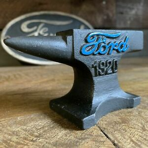 Ford Automobile 1920 Anvil With Antique Finish and Raised Painted Letters