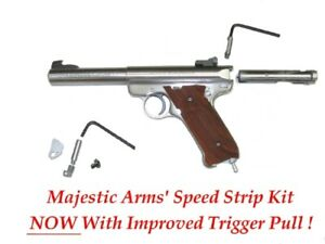 RUGER MARK III II I SPEED STRIP KIT 3.2 Reduce pull & pretravel Majestic Arms