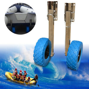 BEST Boat Transom Launching Wheel Dolly For Inflatable Boat Free Shipping
