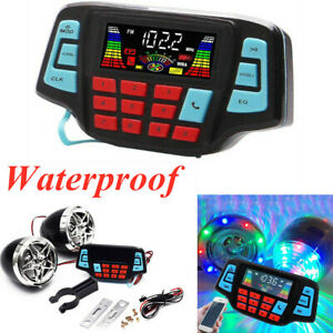 1PC Waterproof Bluetooth For Motorcycle Audio Stereo Speaker System MP3Player