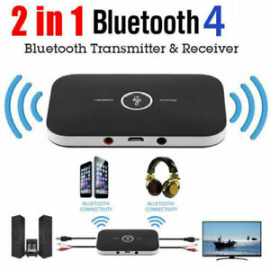 2 in1 Bluetooth Transmitter& Receiver Wireless A2DP Home TV Stereo Audio Adapter