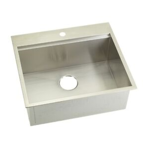 KABCO 25quot; Kitchen Sink Top Mount and Undermount 304 SS 16 Ga. SB