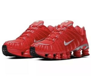 NEW Sz 12 Men's Nike Shox TL Running Shoe Speed Red BV1127-600