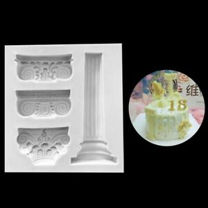Roman Column silicone Sugar molds DIY Chocolate Cake Decorative Baking Tool