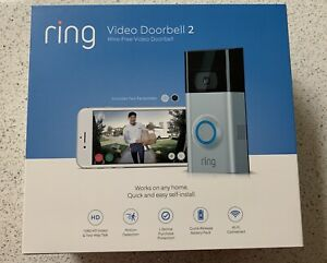 Ring Video Doorbell 2 - 1080 HD WiFi BRAND NEW Factory Sealed !