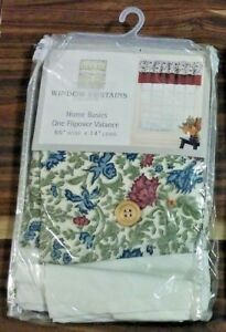 """CHF INDUSTRIES HOME BASIC FLIPOVER VALANCE 60""""X14"""" FLORAL MULTI-COLOR NEW"""