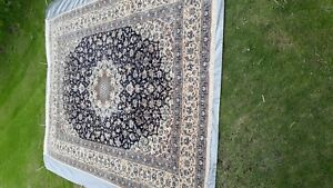 Beautiful  10x14 ft. Handmade Wool and Silk Original Floral Design Persian Rug