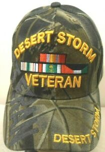 MILITARY CAP DESERT STORM VETERAN HAT CAMOUFLAGE WITH SHADOW