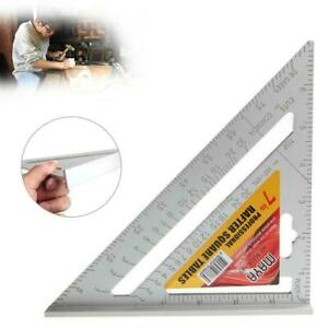 7inch Aluminum Alloy Measuring Right Angle Triangle Ruler Woodworking Tool $8.97