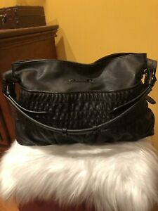 Burberry Black Leather Hobo Bag Purse Handbag