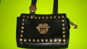 Gianni Versace Leather Medusa Purse Shoulder Bag