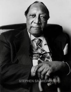 JAMES VAN DER ZEE1979 PORTRAIT 8X10 B&W LARGE FORMAT DKRM PRINT SIGNED