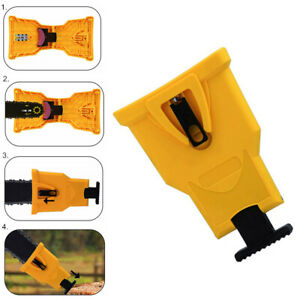 Portable Easy Chainsaw Teeth Power Chain Sharpener Bar-Mount for Woodworking US