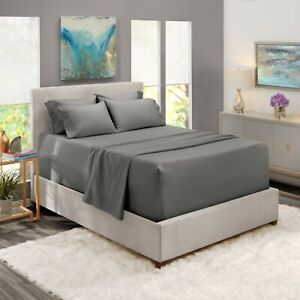6 Piece 1800 Count Bed Sheet Set Extra Deep Pocket Sheets 21 Colors Available $27.99