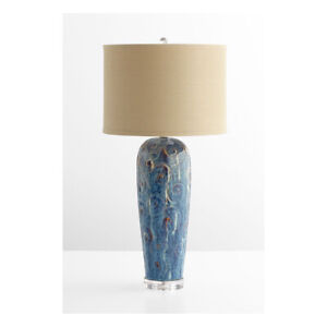 Cyan Design 06546 Translation Table Lamp Blue Glaze