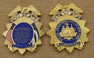 NYPD Police History of the Commissioner Shield CHALLENGE COIN badge medallion