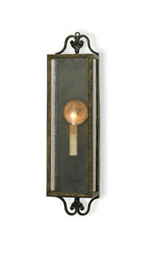 Currey & Company 5030 Wolverton Wall Sconce Bronze Verdigris