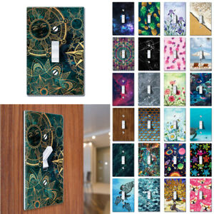 1-Gang Single Toggle Light Switch Wall Plate Artwork Cover