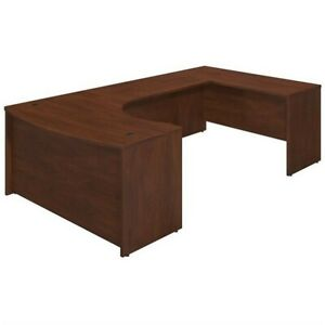 Series C Elite 60W Right Hand Bowfront U Station Desk Shell in Cherry