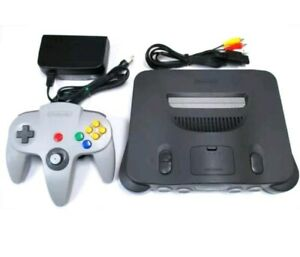 Complete Nintendo 64 Console (NTSC) With Cords. Controller. Free Game.