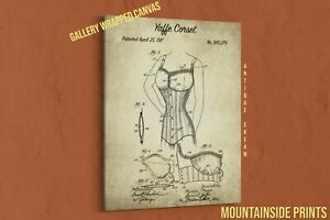 1911 Yaffe Corset Canvas Patent Print - Laundry Room Decor - Fashionista Gift