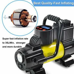 5Heavy Duty Portable Air Compressor Car Tire Inflator Electric Pump Auto 12V