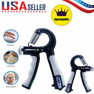Hand Grip Trainer Gripper Strengthener Adjustable Gym Wrist Strength Exerciser