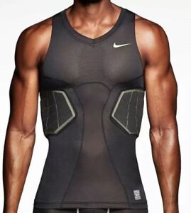 NWT Nike Men's Compression Top Basketball Sleeveless Pro Combat HYPERSTONG L T