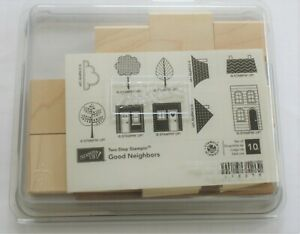 Stampin' Up! - Two Step - GOOD NEIGHBORS - Wood Stamp Set Of 10