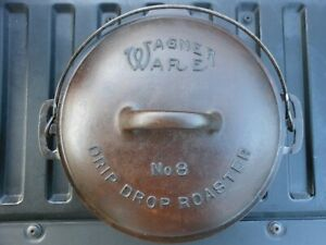 Cast Iron No.8 Wagner Ware Sidney -O- Dutch Oven Drip Drop Roaster