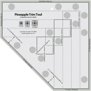 Standard Pineapple Trim Tool Quilting Ruler Template Creative Grids blocks $19.98