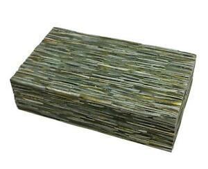 Elegant Natural Forest Green Tiled Decorative Box  15