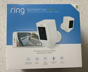 Ring Spotlight Cam Outdoor Security Camera 2-Pack BRAND NEW Factory Sealed