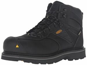 Keen Utility Men's Tacoma Waterproof Work Boot Color BLACK