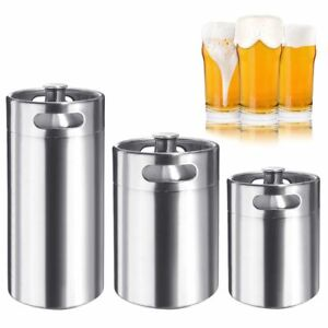 64 128 170OZ Homebrew Growler Mini Keg Stainless Steel Beer Brewing Making 2 5L