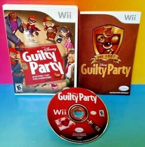Disney Guilty Party Nintendo Wii Wii U 1 4 player game tested fun Complete $14.85