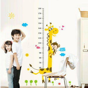 US Removable Height Chart Measure Wall Sticker Giraffe Decal for Kids Baby Room
