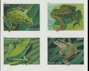 NEW!  5395-98 Frogs Stamps- Block of 4 - Mint!   FoXRiVeR - IN STOCK -Ships FREE