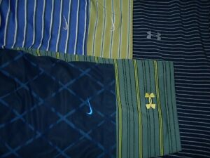 Lot 5 Under Armour Nike Dri-Fit Mens Polo Shirts XL X Large 2 NWOT