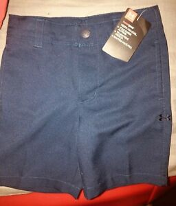 New W Tag Under Armour Toddler Boys Navy Golf Shorts Adjustable Waist Size 3T