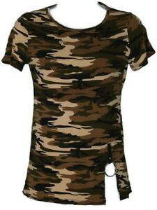 Camouflage women T#x27;Shirt in poly cotton Stretch Fashionable In S M L X L