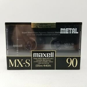 Lot of 6 New Sealed Maxell MX-S 90 Type IV Metal Cassette Tapes Made in Japan