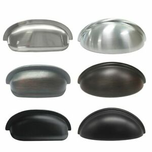 10 20 25 Pack Kitchen Shell Cup Pull  Door Drawer Handle Cupboard Cabinet Knobs