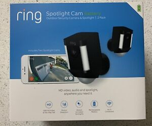 Ring Spotlight Cam Outdoor Security Camera 2 Pack BRAND NEW Factory Sealed