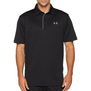 Under Armour Heat Gear Tech Black SS Men's Polo Shirt Size L Large NWT $39.99