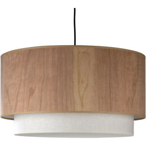 Lights UP 9444BN-CWD OPEN BOX Woody Pendant Brushed Nickel