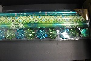 3 Roll Wrap 8 Bow 8 Gift Tag Variety Pack Holiday Christmas Wrapping Gift Paper