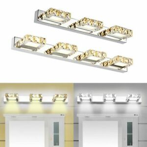 LED Crystal Mirror Front Modern Bathroom Toilet Vanity Lamp Makeup Wall Light