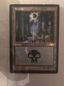 1x MP Guru Swamp MTG Signed
