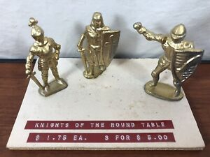 Vintage Lead Soldiers Knights Of The Round Table Salesmen Samples Antique Toys